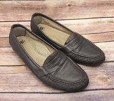 SAS Women's Tripad Comfort Leather Silver Penny Loafers Size 7.5 M Made In USA