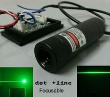 Good cooling 200mw 532nm green laser module more working 12hours free line lens