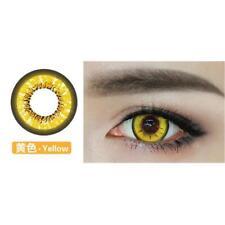 Yellow Blue Cute bigeyes Contact lens Contact Lenses Kawaii Color Soft Big Eye