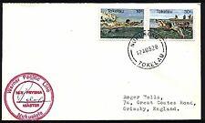 TOKELAU IS 1982 cover ex Nukunono to UK, MV FRYSNA ship cachet.............70934