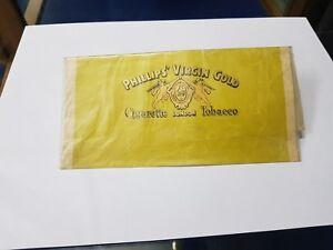 1930s Vintage Philips Virgin Gold Cigarette 40 Grams Paper Tobacco Holder