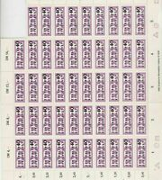 germany 1956 central courier service mnh stamps sheet ref 10705