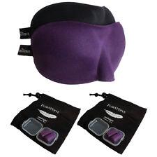 Floraverve Sleep Masks & Ear Plugs, Soft & Lightweipght Eye Mask Purple+Black