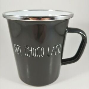 PROJECT 62 Large 16oz Black Porcelain Enamel Metal Camping Coffee Mug Cup