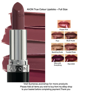 Avon FULL SIZE True Colour Rich Lipsticks ~ Pick ~ Toasted Rose or Proper Pink