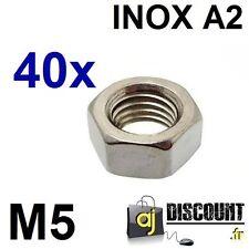 40x Ecrou hexagonal H (HU) - M5 - INOX A2 - DIN 934