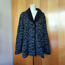 Anders! Toller Wollmantel / Winterjacke von Lana Naturalwear, XXL, schwarz weiß