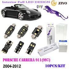10Pcs LED Interior Light Kit HidWhite 6K Fit For 2004-12Porsche Carrera 911(997)