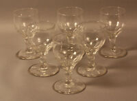 SET OF SIX ANTIQUE CRYSTAL GLASSES - PORT GLASS / SHERRY GLASS
