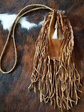 LEATHER Cowgirl Gypsy FRINGE  Boho Bag Handbag Purse Western  beaded messenger
