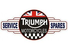 NEW Triumph Motorcycles Service Station tin metal sign