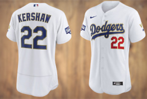 Clayton Kershaw #22 Los Angeles Dodgers flexBase Stitched Jersey world series