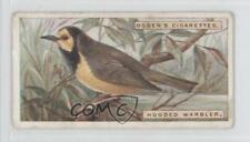 1924 Ogden's Foreign Birds Tobacco Base #46 Hooded Warbler Non-Sports Card 1x2