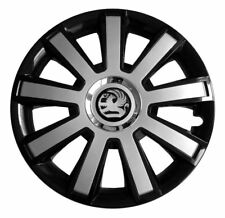 Set of 16'' Wheel trims hubcaps for Vauxhall Zafira - black/silver