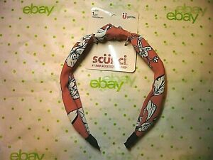 Scunci Pink Floral Tropical Headband Pink White Black 1 Inch Wide New