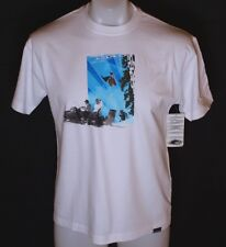 Bnwt Men's Oakley Ettla T Shirt Medium White Short Sleeve Crew Neck Skiing