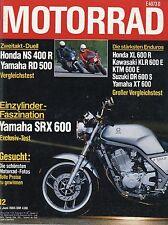 Motorrad 12/85 1985 Yamaha RD 500LC XT 600 TZ 250 Honda NS400R KTM 600E Puch 800