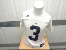 VINTAGE ADIDAS NOTRE DAME FIGHTING IRISH JOE MONTANA #3 LARGE WHITE JERSEY