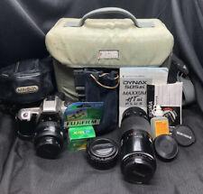 Minolta Maxxum HTsi Plus Film Camera w/35-70mm Lens+70-120mm Lens+Tele Converter