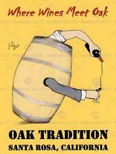 Le tourisme vin chêne baril hommage savignac a santa rosa en californie poster CC4330