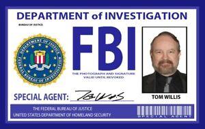 "Supernatural - Prop FBI Badge Bobby AKA ""Agent Willis"" ID Badge"