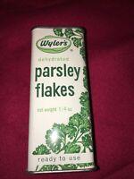 Vintage WYLER'S PARSLEY Flakes Metal Spice Tin EMPTY