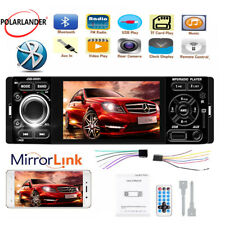 "Car Radio Touch Screen Mirror Link 4"" 1 Din Bluetooth USB AUX MP5 Player Stereo"