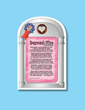 """Beyond The Dash"" - Poem - Inspirational Verse Card w/ Heart Penny - sku# 857"
