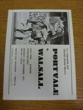 19/12/1977 Port Vale V Walsall [FA Cup replay] (cuatro páginas, arrugada, doblada). th