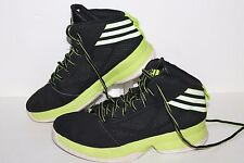 Adidas Mad Handle Basketball Shoes, #G98423, Black/Lime/White, Youth US 5 Youth