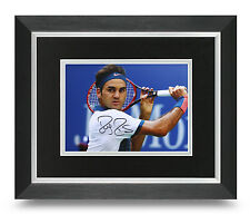 Roger Federer Signed 10x8 Photo Display Framed Wimbledon Tennis Memorabilia +COA