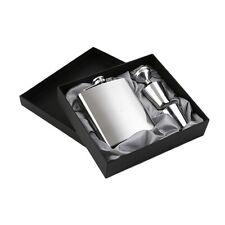 7oz Stainless Steel Pocket Hip Flask Funnel Cups Set Drink Bottle Gift New EA