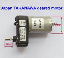 DC 6V 12V 24V Japan TAKANAWA Full Metal Gear Motor DC Geared Motor Generator