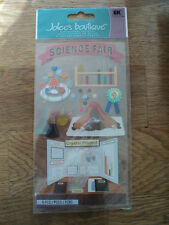 EK SUCCESS JOLEE'S BOUTIQUE science fair Dimensional Stickers Entièrement neuf sous emballage