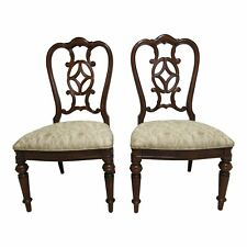 Pair Thomasville Fredericksburg Dining Room Side Chairs
