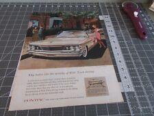 1960 Pontiac Bonneville Convertible Wide Track Vintage Original Print Ad