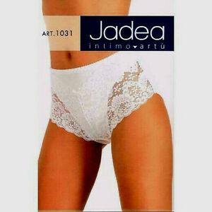3 slip alto JADEA pancierina leggera bianco Tg 5 cotone modal e pizzo art.1031