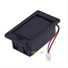 9V Battery Case Holder Cover Box for Active Guitar Bass Pickup Electronics Black