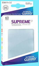 60 ULTIMATE GUARD SUPREME UX TRANSPARENT JAPANESE Card SLEEVES Clear Protector