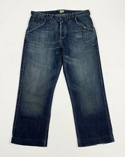 Levis engineered 508 738 jeans usato uomo W33 tg 47 relaxed boyfriend blu T5262