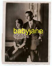 RUDOLPH VALENTINO WINIFRED HUDNUT ORIG 6X8 PHOTO 1923 CARLTON HOTEL HONEYMOON