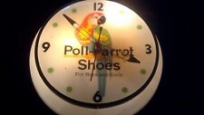 VINTAGE RARE POLL PARROT ROUND LIGHTED WALL CLOCK FROM FAMILY STORE