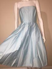 Calvin Klein Light Sky Blue Strapless Bustier Gown Shift Dress Size 10