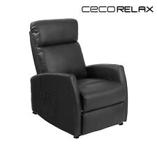 Black Compact Push Back Massaging Recliner Cecorelax 6180