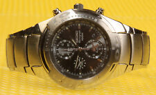 Men's SEIKO 7T62-0BX0 Quartz Chronograph Watch Screw-Crown 100M * VERY GOOD USED