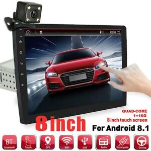 """8"""" 1Din Android 8.1 Car Stereo Radio GPS Wifi Player Touch Screen +Rear Camera"""