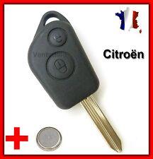 Coque PLIP Télécommande Clé Citroën Saxo Xsara Picasso Pile Bouton Offerte!!!