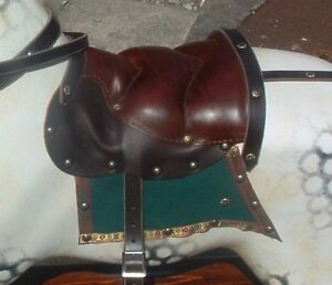 BEST Quality Rocking Horse Leather Nail on trad. Saddle with Stirrups - S, M, L
