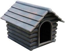 PLASTIC DINKUM DOG HOUSE-KENNEL-LOG CABIN-ONE PIECE-FLEA PROOF-UV RESISTANT POLY