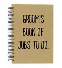Groom's Book Of Jobs To Do A5 Kraft Notebook Great Quality Lined Pad Wedding Pla